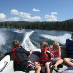 Flathead Lake wake boarding