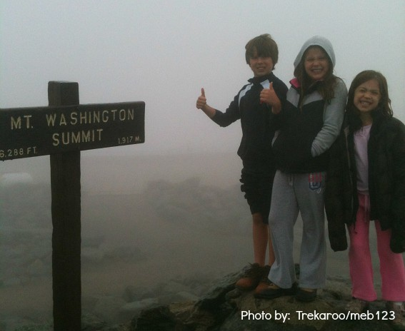 New Hampshire with kids Mt Washington Summit