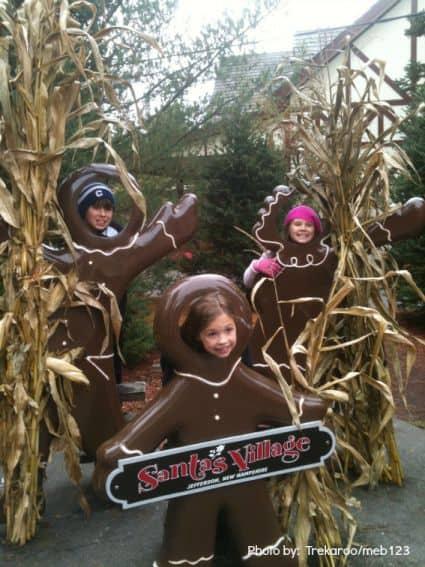 New Hampshire with kids santa village