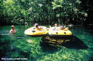 Tubing on the Ichetucknee River, Florida Photo Courtesy of: VISIT FLORIDA