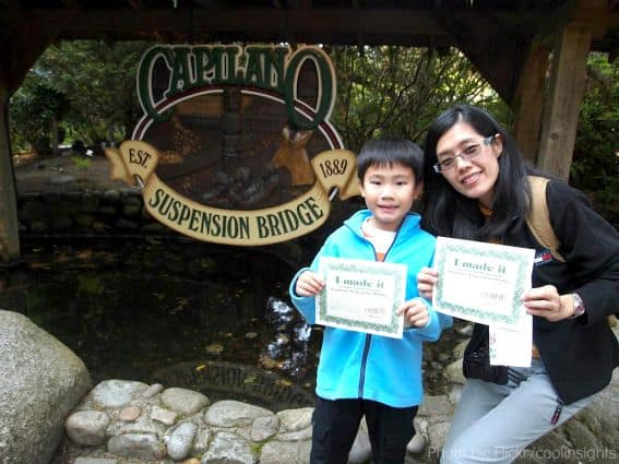 Visiting Vancouver with Kids Capilano Bridge