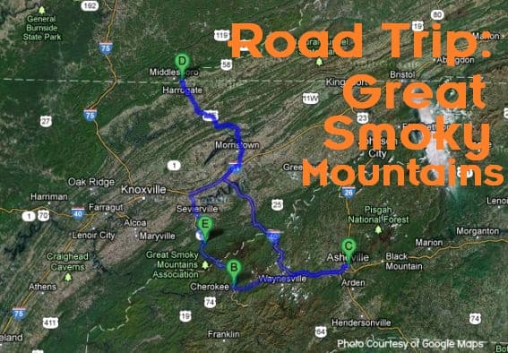 Road Trip Week Great Smoky Mountains Road Trip Itinerary