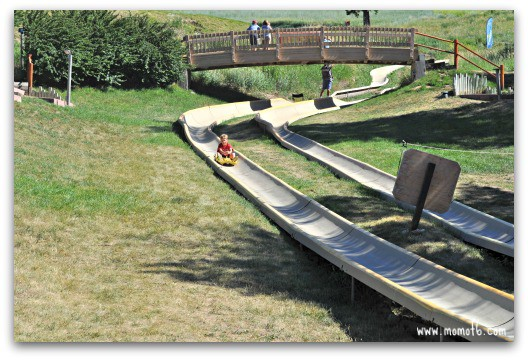 Zipping down the alpine slide and dinner at Hayden's Post at Snow King Resort in Wyoming.