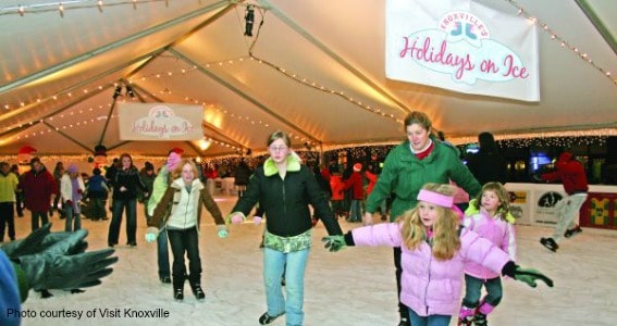 Ice skate Knoxville Christmas Tennessee TN