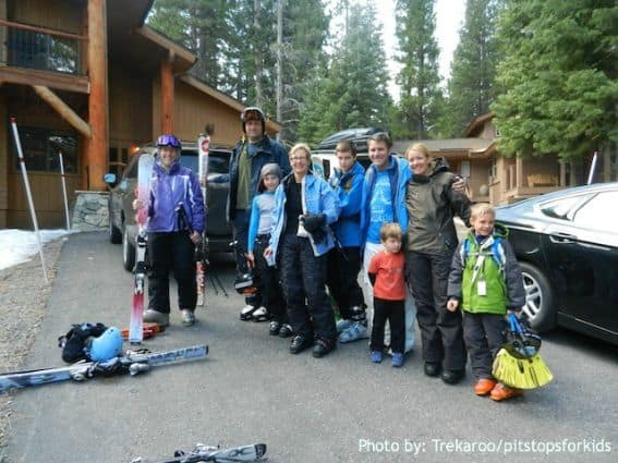 multiple family ski trip