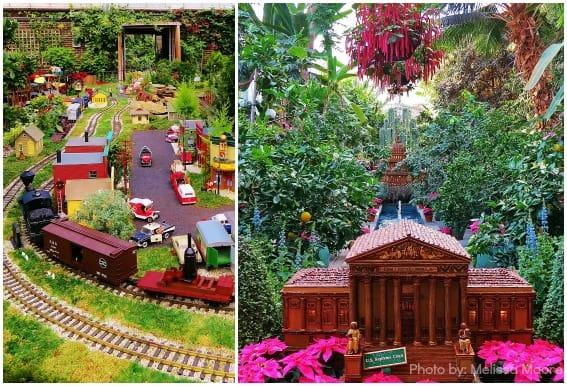 US Botanic Gardens Brookside Gardens Model Railway Winter Display
