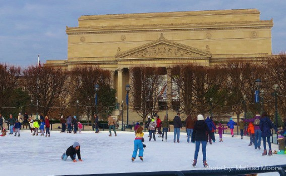 National Gallery of Art Sculpture Garden Ice Skating Rink National Archives